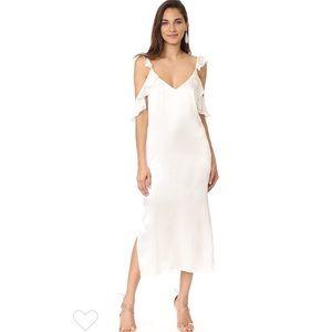 WAYF cold shoulder slip dress